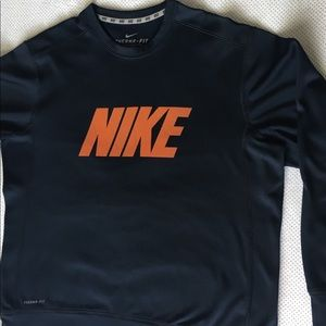 Nike Therma-Fit Performance Pullover - Navy Blue